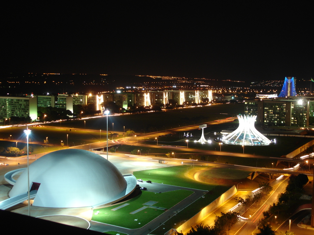 Brasilia City Guid brasilia city guide Brasilia City Guide catedral de brasilia iluminada