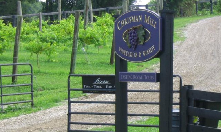Winery  Lexington - City Guide chrisman mill1