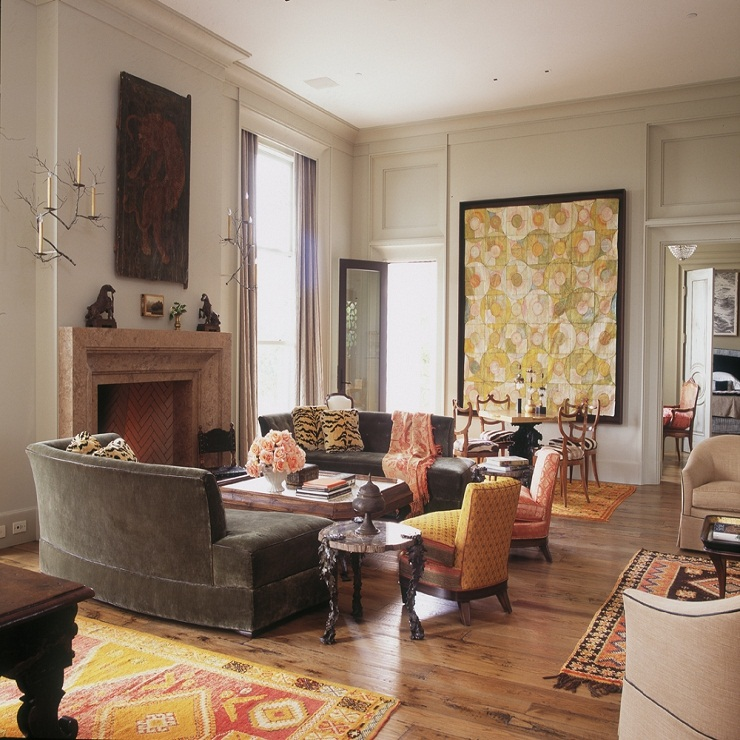"""Established in the early 1980s by Joe Nahem and Tom Fox, the New York City firm Fox-Nahem Associates is known for spirited, unpretentious rooms executed in a range of styles and often complementing serious architecture.""  Fox Nahem 131"
