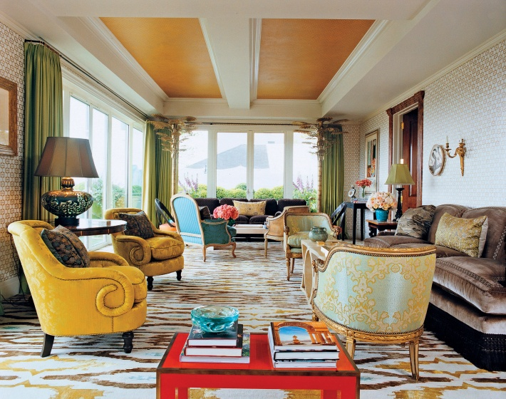 """One of 50 more well known interior designers in USA.  His work is a unique perspective of how we can join traditional and modern design aspects on the same place. ""  Jeffrey Bilhuber  claude wasserstein september 2011 vogue"