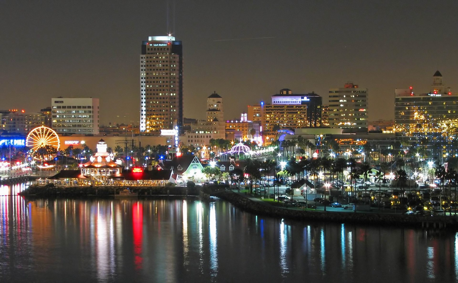 Long Beach At Night California United States