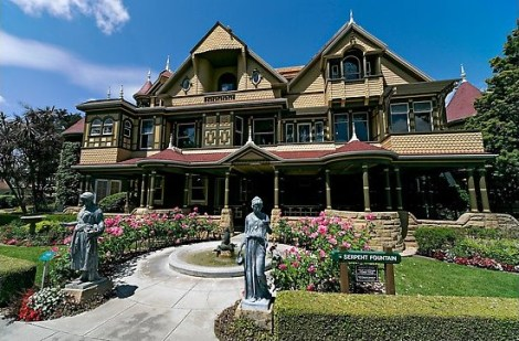 Main facade. Winchester Mystery House, San Jose, California, USA